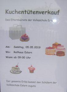 Kuchentüten-Verkaufsplakat (Bäckerei Meier, Bühl)