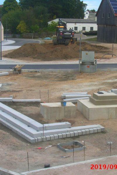 Blick auf die Denkmal-Baustelle am 16.09.2019